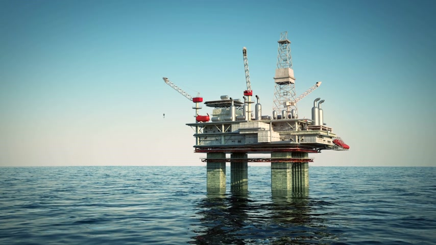 csővezeték : Oil platform on sea is offshore structure with facilities to drill wells, extract and process oil and natural gas and temporarily store produced goods until it can be brought to the shore for refining. In most cases the platfrom contains facilities to hou