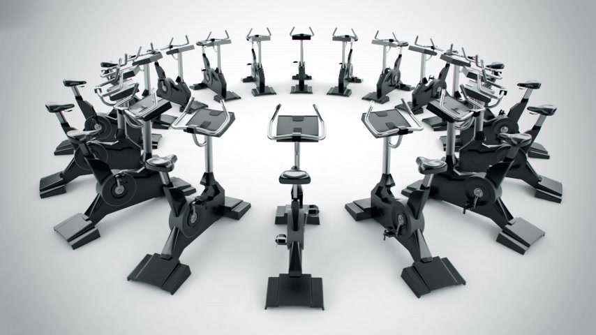 safe workout : Gym equipment stationary bikes. Exercise bicycle, exercycle is a device used as exercise equipment. They help increasing general fitness and in training for cycle events. The exercise bike as low-impact, safe and effective cardiovascular exercise is also