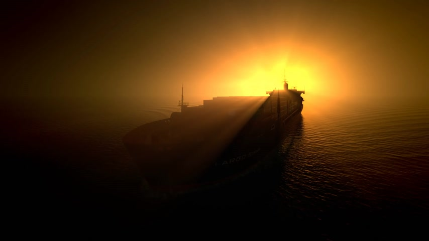 áruk : Aerial shot of container ship in ocean.