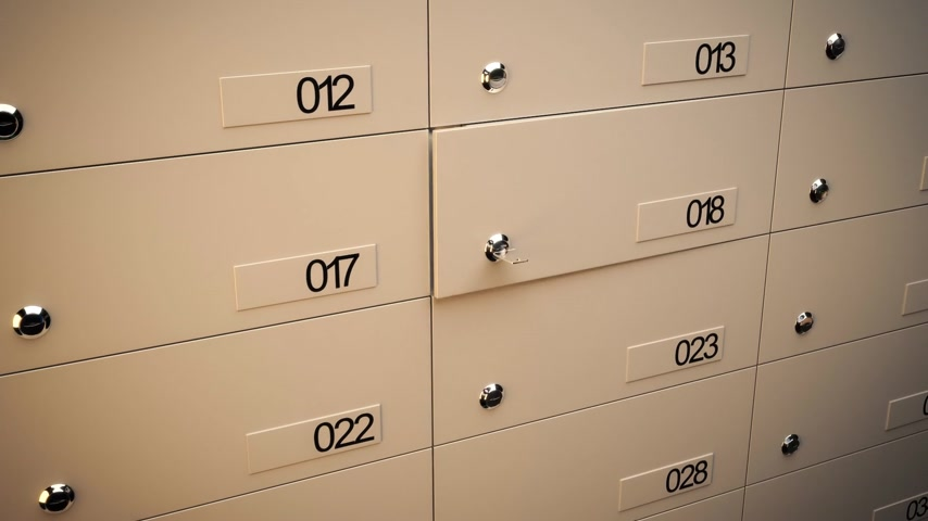 row : 01853 Opening Safe Deposit Lockers In A Bank