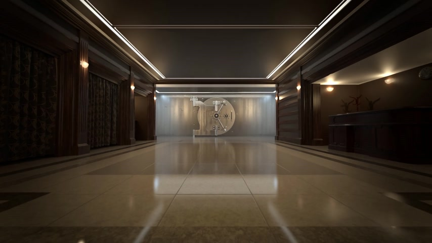 щит : 01932 Luxury Safety Vault In Bank