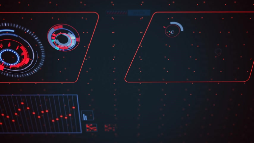 dalgalanan : 02032 Futuristic Graphic User Interface Fluctuating Graph Ratio Stok Video