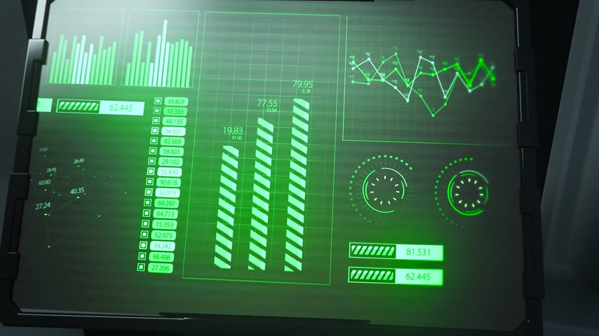 技术 : 02092 Futuristic Spaceship Door Panel Graphic User Interface 影像素材