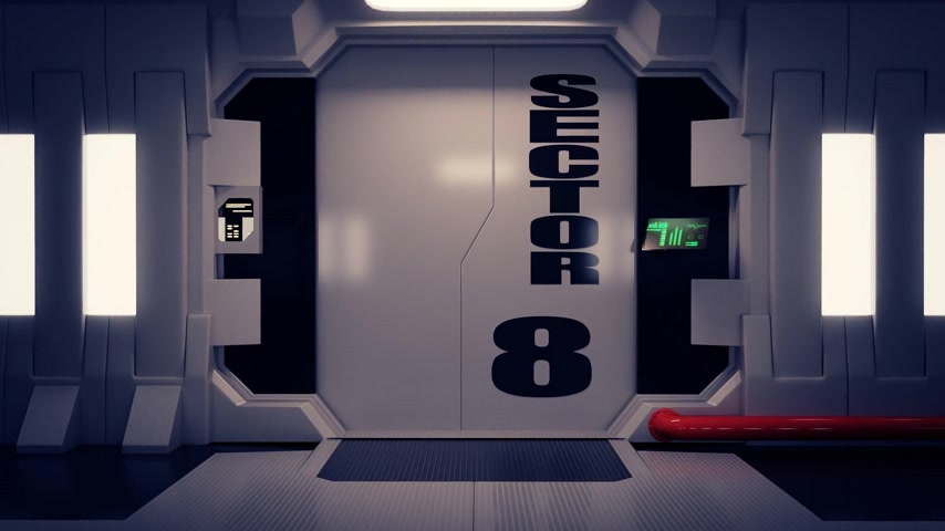 drzwi : 02093 Futuristic Spaceship Door Opening And Camera Slowly Zooming In