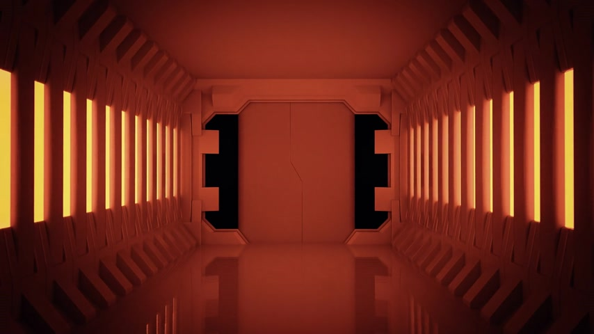 стены : 02095 Futuristic Spaceship Door Opening And Camera Slowly Zooming In