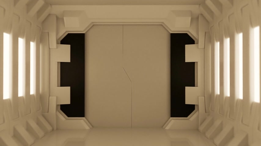 drzwi : 02164 Futuristic Spaceship Door Opening And Camera Slowly Moving