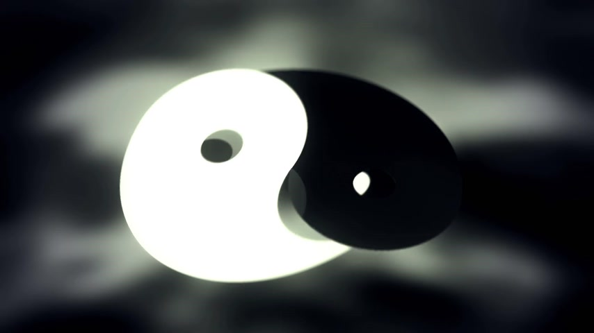 vallási : Yin yang symbol animation loopable