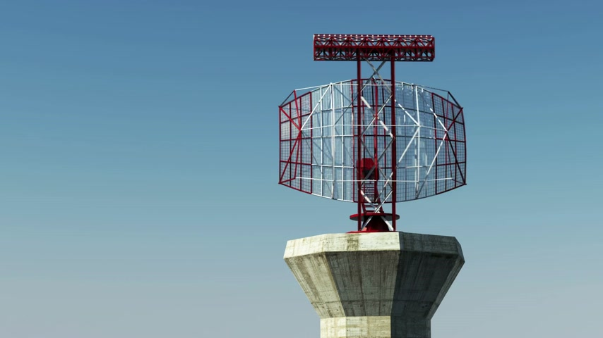 Aeropuerto Radar loopable animación.
