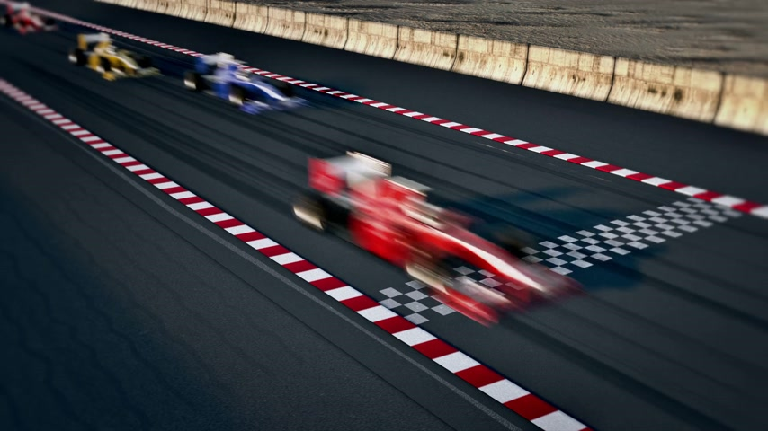 acabamento : Generic looking auto cars racing. Stock Footage