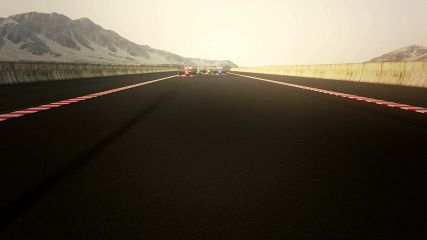 wyscigi : Generic looking auto cars racing. Wideo