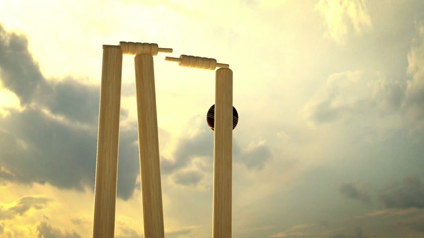 match : Cricket is a team sport for two teams of eleven players each. A formal game of cricket can last anything from an afternoon to several days. Stock Footage