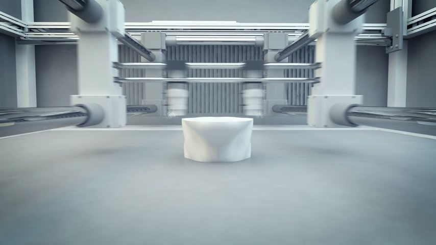 impressão digital : 3D Printing (Additive Manufacturing) is turning the impossible into the possible. 3d animation of working 3d printer.