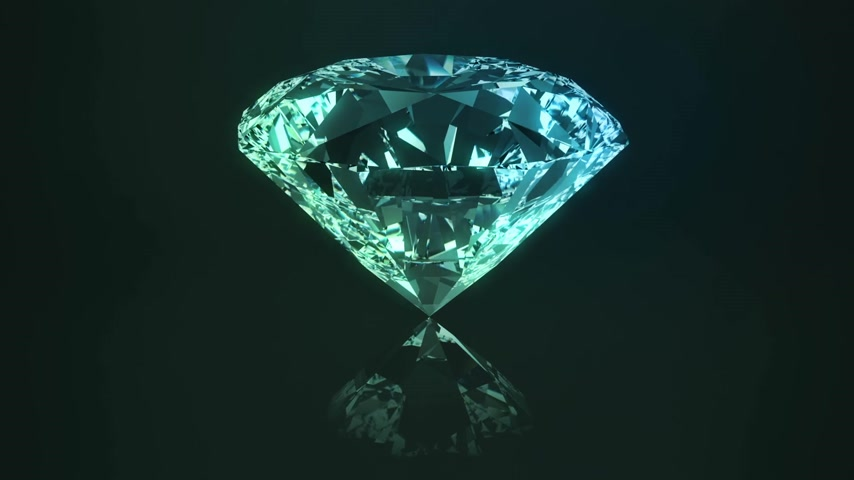 блестящий : Centered view on beautiful, ideal passion cut diamond. Seamless animated presentation of rotating precious gem.