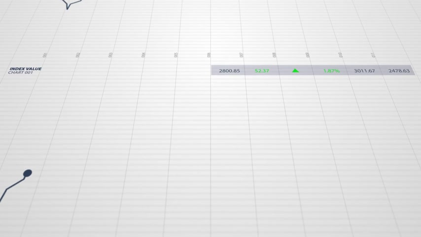 gestão : Loopable animation of stock index chart on a white background. Suitable for any stock market related purposes.