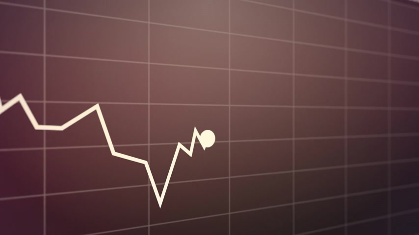 índice : Stock index chart on a purple background. Suitable for any stock market related purposes. Vídeos