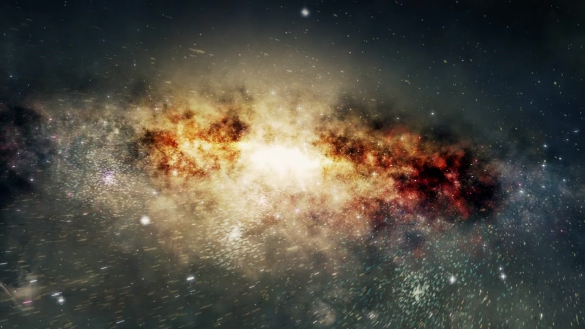 formations : Spectacular view of a glowing galaxy, consisting of planets, star systems, star clusters and types of interstellar clouds. Space dust