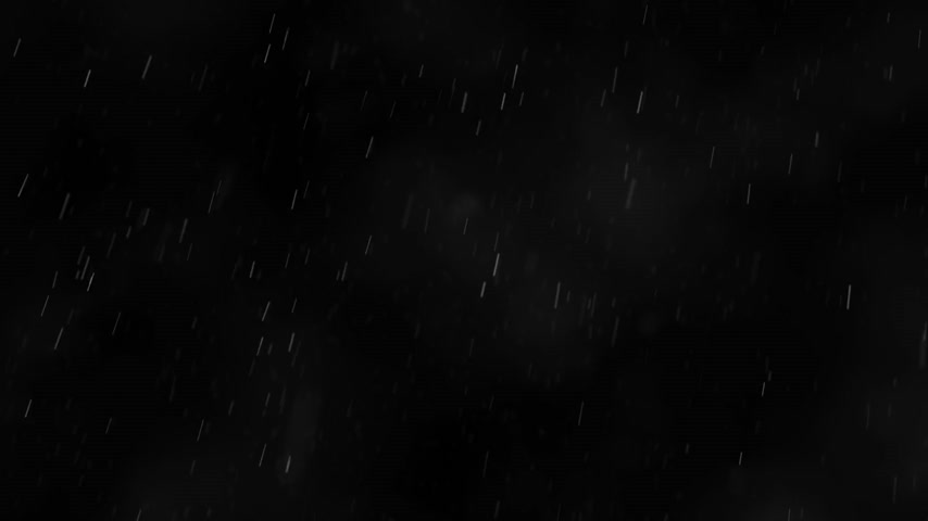 deszcz : Wide shot of falling rain against black background.