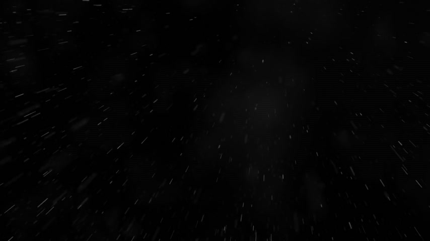 czarne : Low angle shot of falling rain against black background.