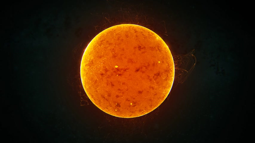 bola de fogo : Close up shot of the sun. Hot explosions superheated gas on sun surface.