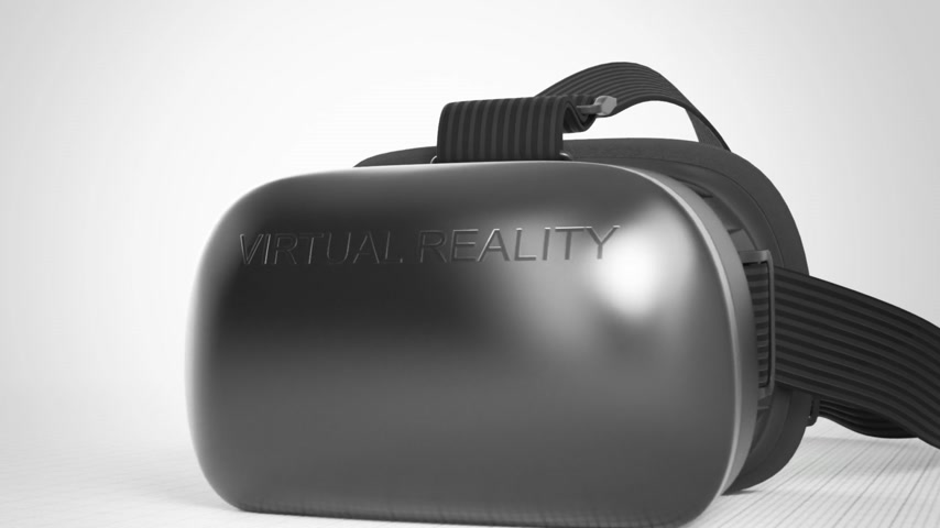 Camera Move Around The Virtual Reality headset. Groen scherm.