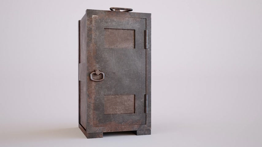 тайна : Old, rusty, steel safe with locked door in a conceptual image of finances and wealth