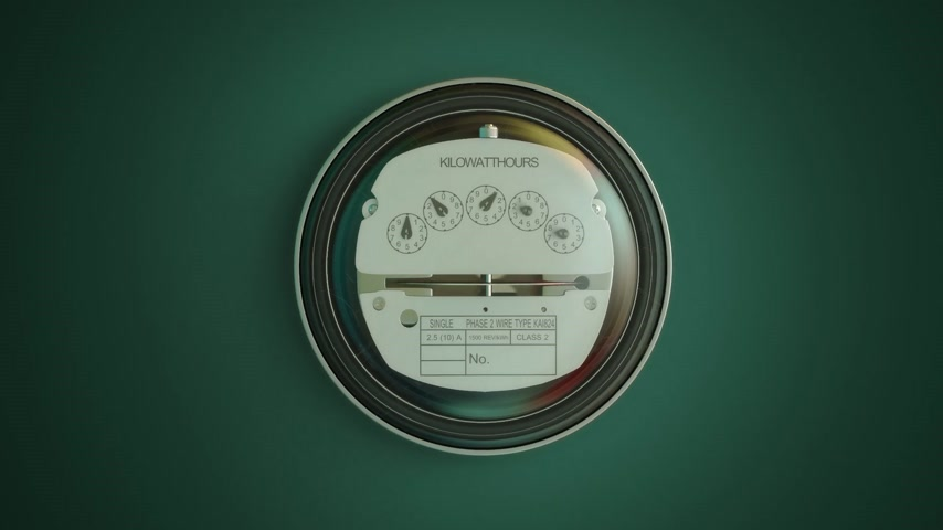 zobrazit : Typical residential analog electric meter with transparent plactic case showing household consumption in kilowatt hours. Electric power usage. Dostupné videozáznamy