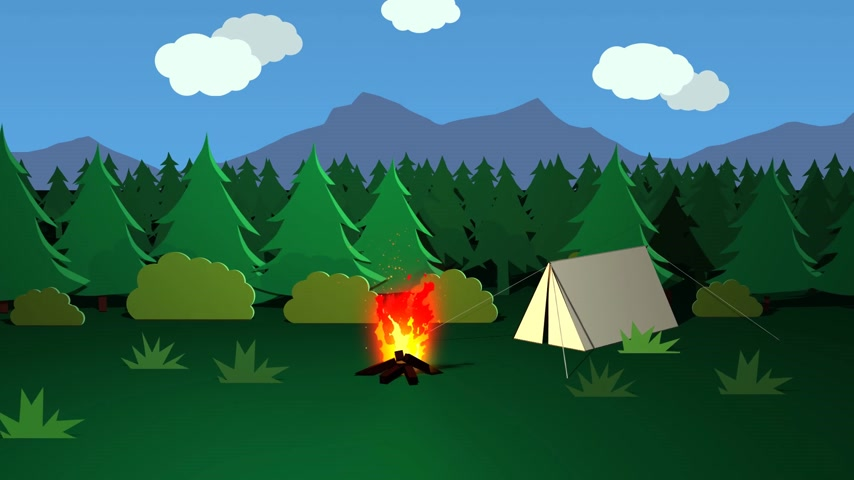 хрупкость : Continuous Bonfire Burning Day And Night In Front Of Tent