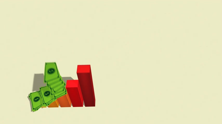 business values : Rising Business Graph With Financial Profit Stock Footage
