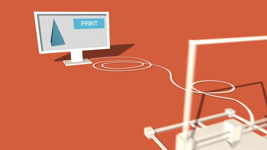 oklar : Process Of 3d Object Made in Electronic Three Dimensional Printer And Packaging.