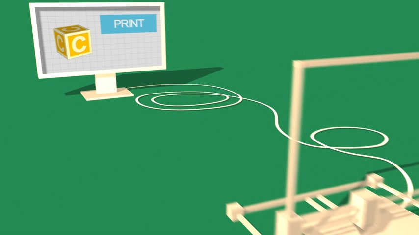 impressão digital : Process Of 3d Object Made in Electronic Three Dimensional Printer And Packaging.