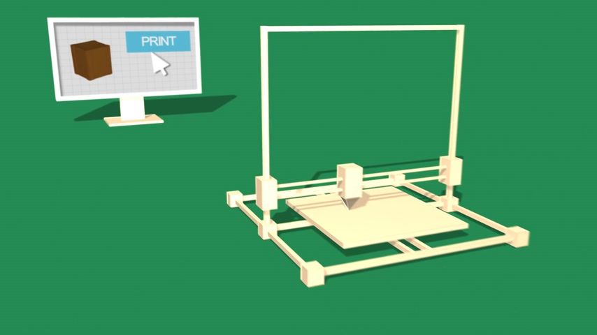 impressão digital : Process Of 3d Object Made in Electronic Three Dimensional Printer. 688_003a