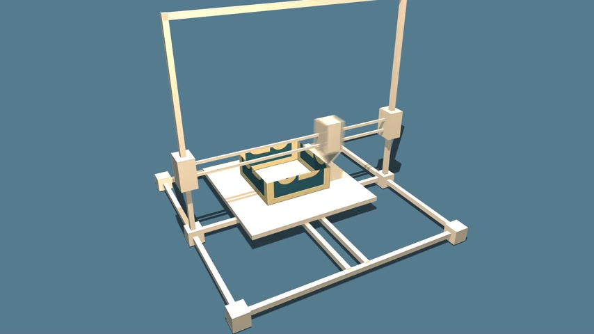 impressão digital : Process Of 3d Object Made in Electronic Three Dimensional Printer. 688_004c