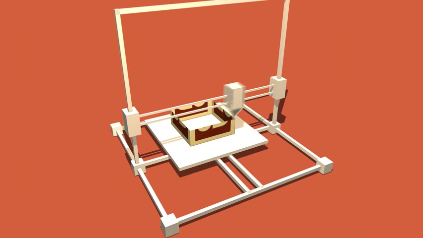 impressão digital : Process Of 3d Object Made in Electronic Three Dimensional Printer. 688_004b