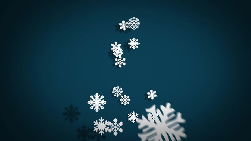 Freezing Christmas Tree Made Of Snowflakes On blue Background