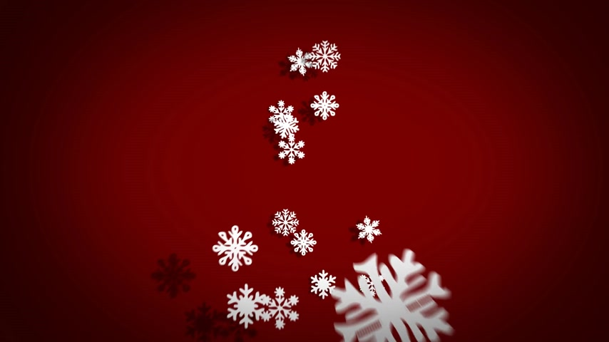 рождественская елка : Freezing Christmas Tree Made Of Snowflakes On Red Background