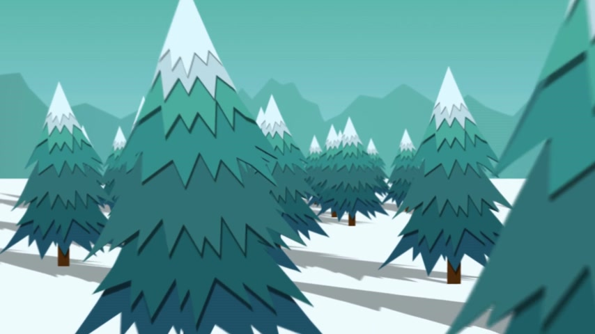 хрупкость : Christmas Trees On Snow Landscape In Winter