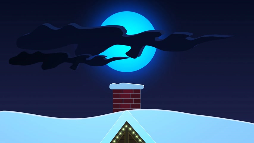 дымоход : Santa Claus On The Roof Getting Ready To Go Down The Chimney