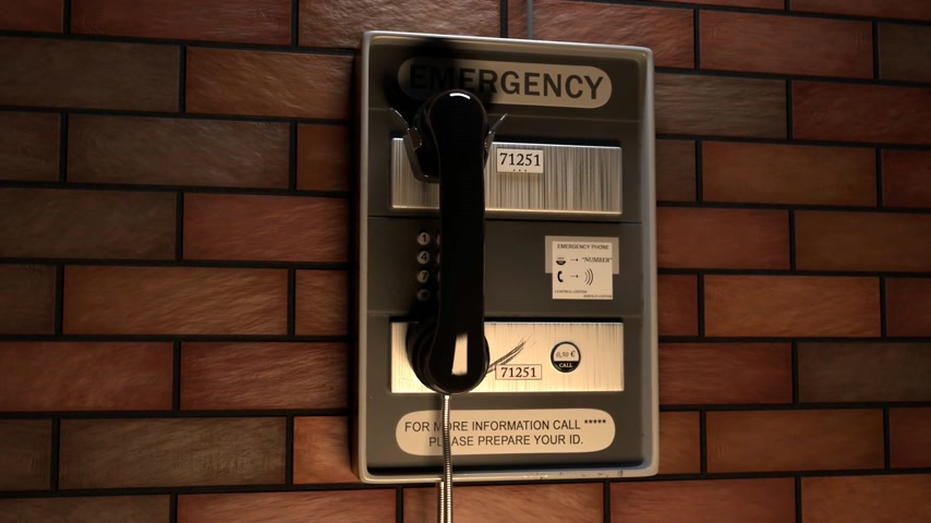 общаться : Close-up Of An Emergency Telephone On Brick Wall Стоковые видеозаписи