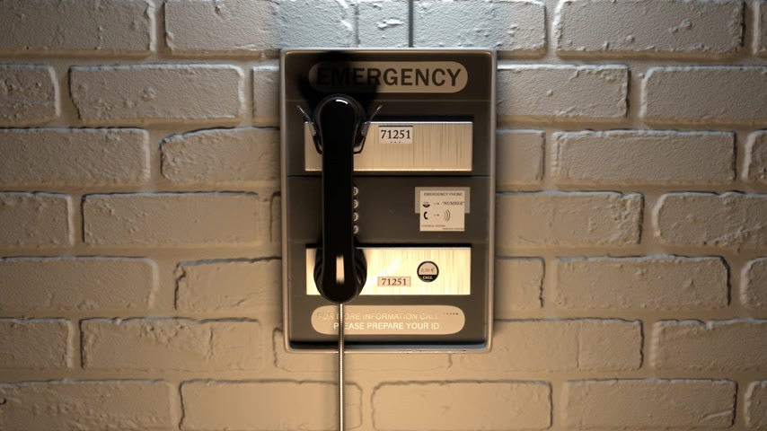 parede : Close-up Of An Emergency Telephone On Brick Wall Vídeos