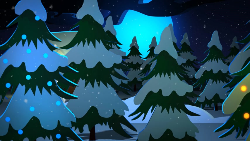xale : Merry Christmas Word In Front Of Decorative House And Snowman At Night