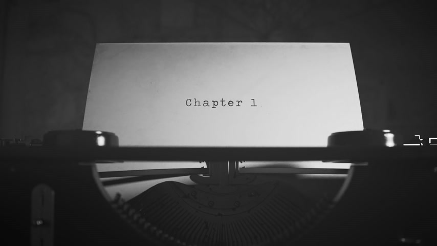 публиковать : Chapter 1 Written On An Old Typewriter On Desk Стоковые видеозаписи