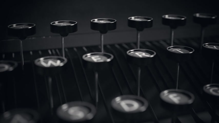 alphabet : Chapter 1 Written On An Old Typewriter On Desk Stock Footage