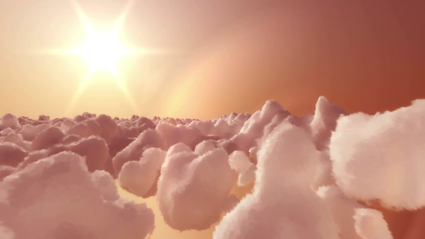 stratosphere : In this inspiring video, camera is flying high above clouds in direction of rising sun. Flying till not so long ago was just an dream and this footage have a bit of dreamy look. Animation is loopable.