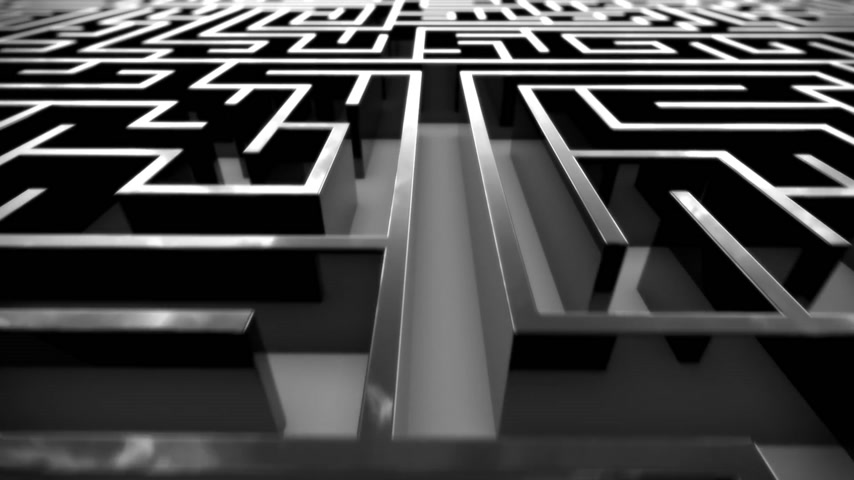 puzle : Loopable animation of complex maze.