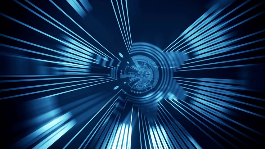 技术 : Technology tunnel animation.