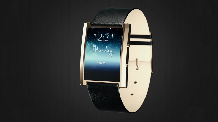 pedometer : Close-up Of Smartwatch With Pedometer Displaying Date, Time And Weather Stock Footage