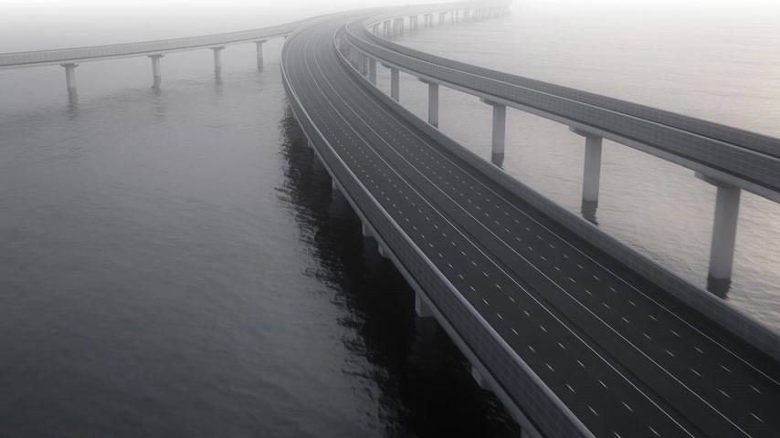 kolumna : Express Highway Bridge In Ocean