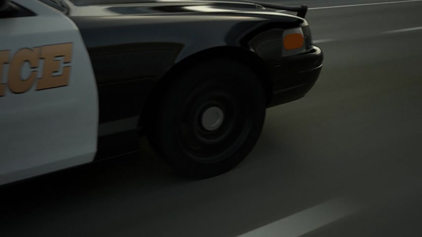 polícia : Police Cars In Speed Travelling On Road Stock Footage