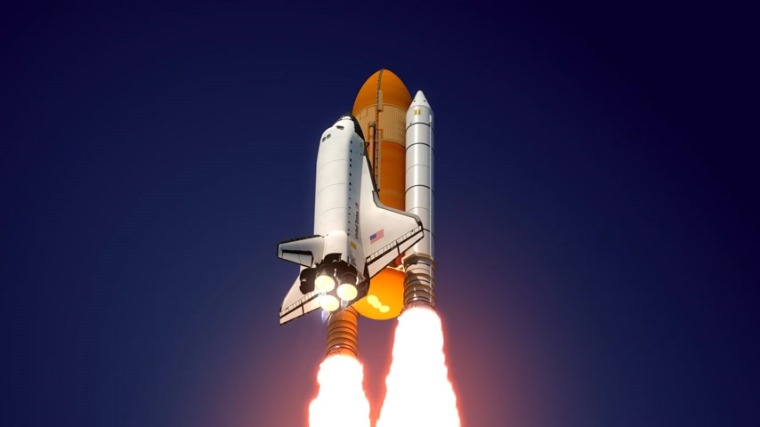 rakieta : Space Shuttle. 3D Animation. Wideo