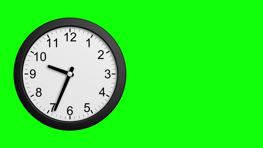 Time Disintegrating Into Dust. Green Screen. 3D Animation. Stock mozgókép